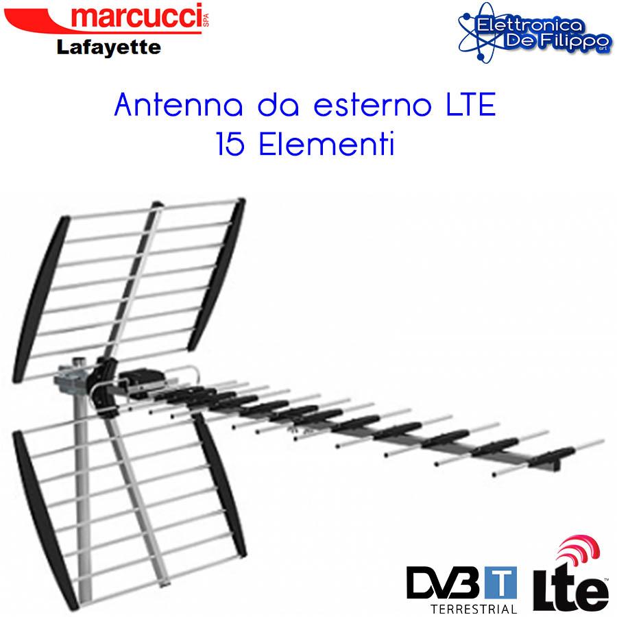 Antenna Tv Da Terrazzo Dvb-t Lte Uhf Hd 470-790 Mhz Con Led Anti Corto -  - ebay.it