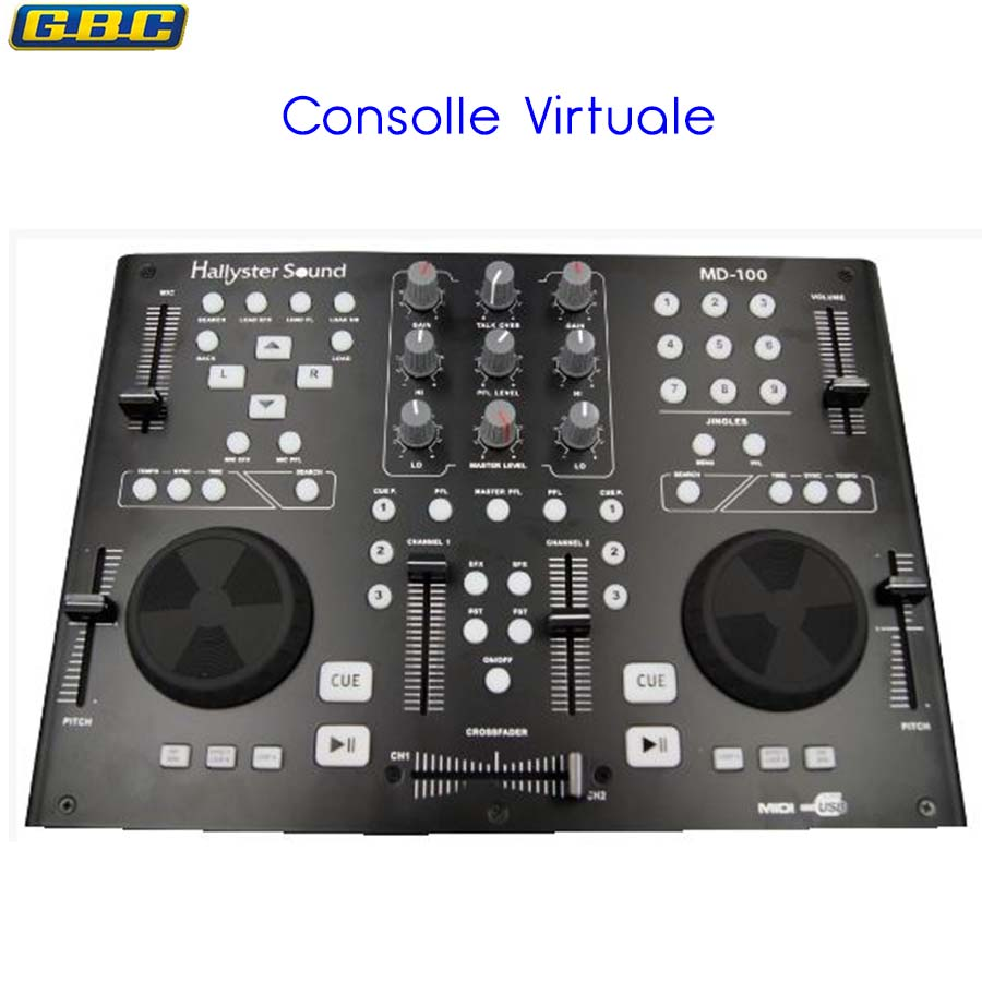 CONSOLLE VIRTUALE PER DJ MIDI PLAYER 61710050