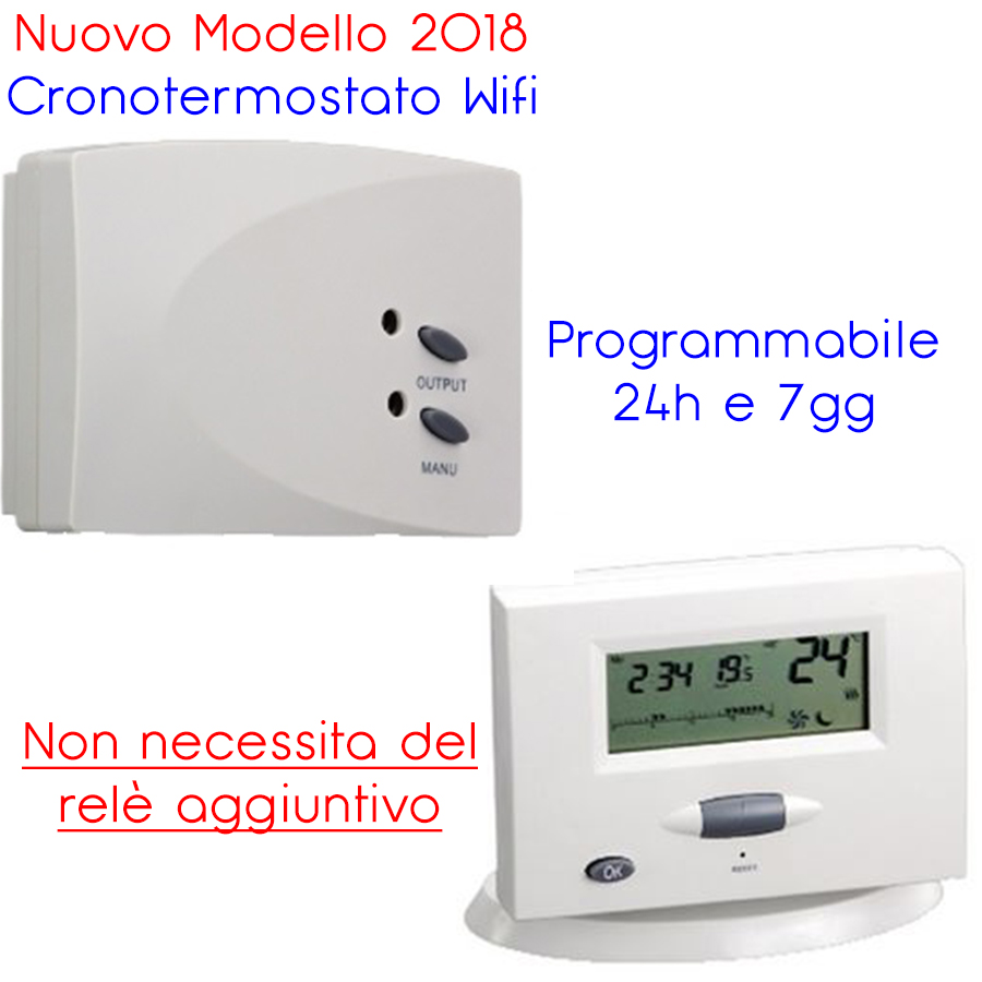 CRONOTERMOSTATO DIGITALE WIRELESS ONE TOUCH GBC 49693550
