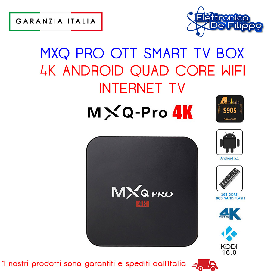 MXQ PRO OTT SMART TV BOX 4K ANDROID QUAD CORE WIFI INTERNET TV