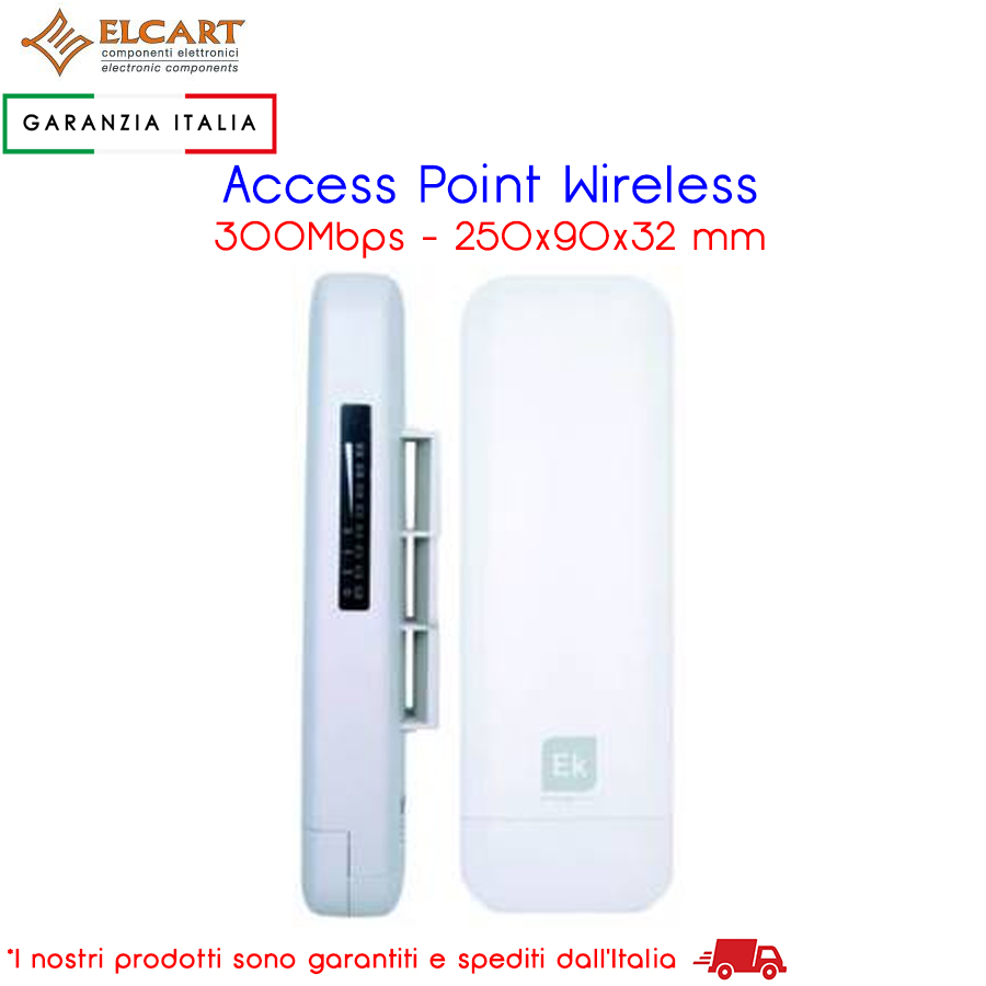 Access Point Wireless da Esterno 300Mbps, con 2 porte 10/100Mbps RJ45