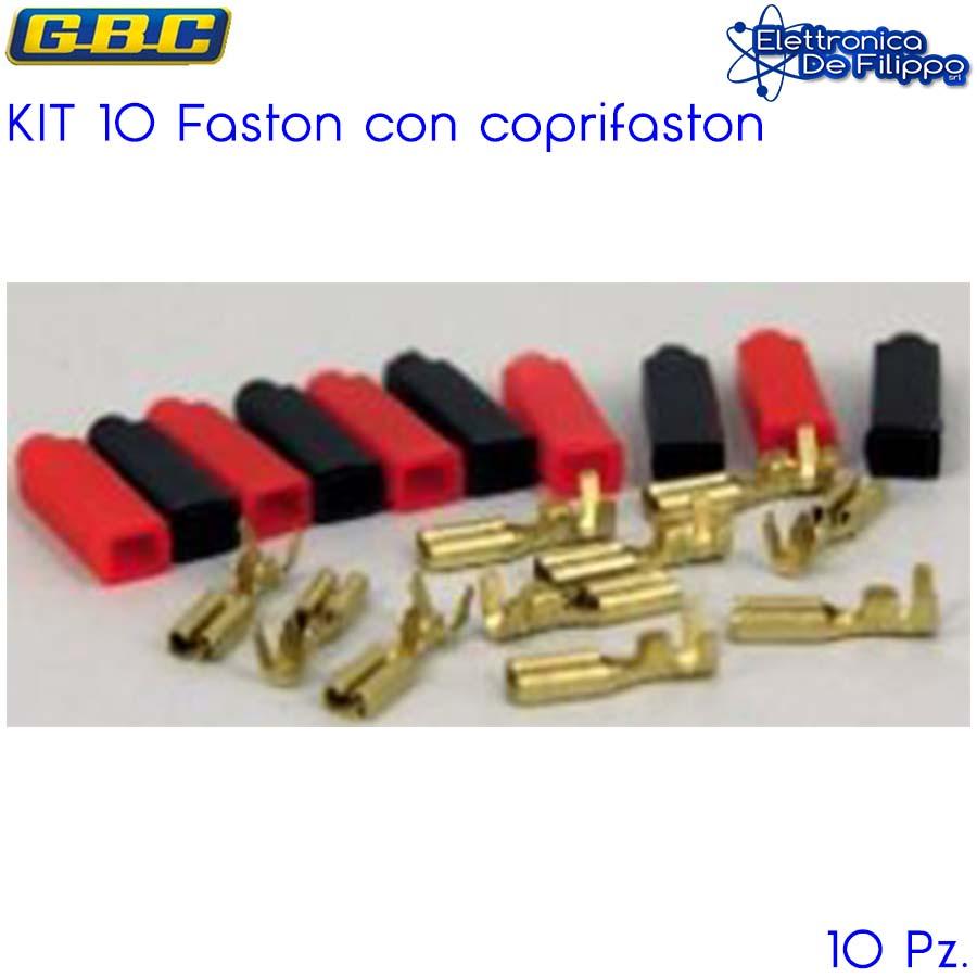 KIT 10 FASTON MASCHIO CON COPRIFASTON PASSO 2,8MM