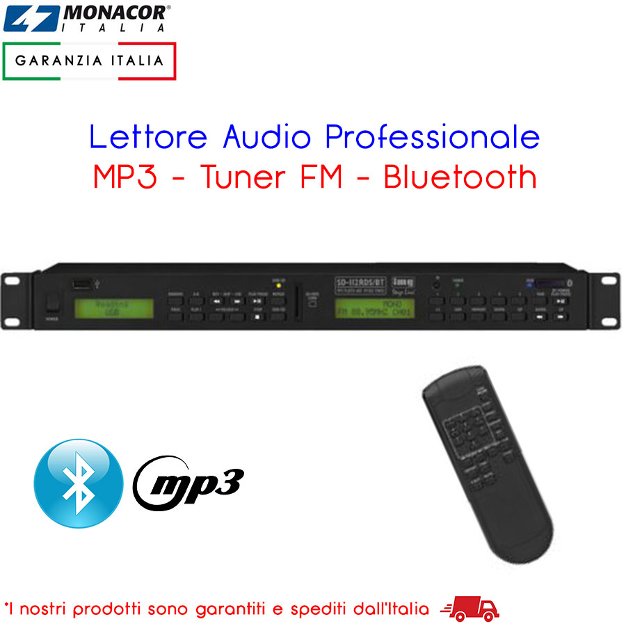 LETTORE PROFESSIONALE MP3 CON TUNER FM E BLUETOOTH MONACOR INTERNATIONAL