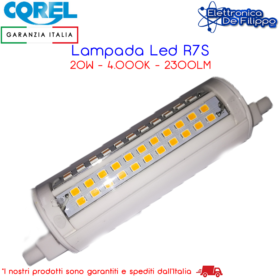 lampadina a led ld9270 a luce naturale 4000k 2300lm 20w corel r7s | ebay