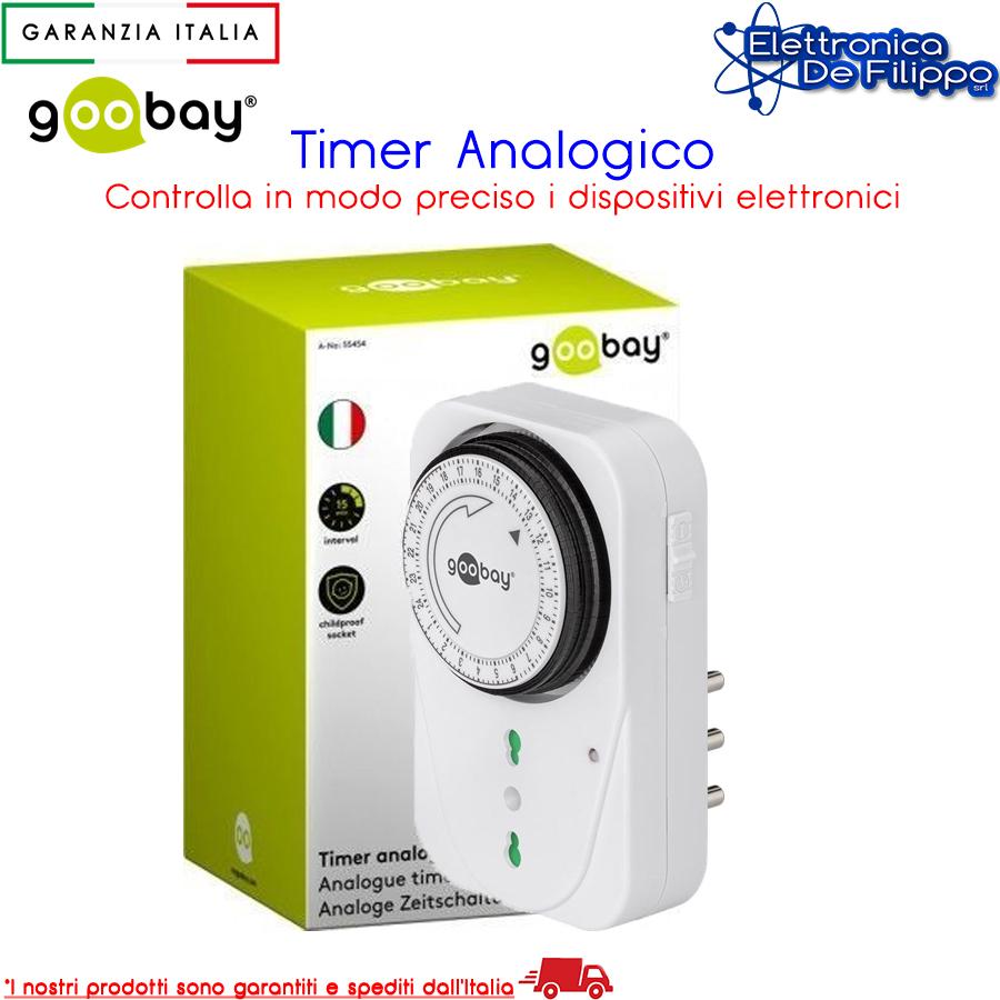 Goobay Timer analogico giornaliero 24 ore