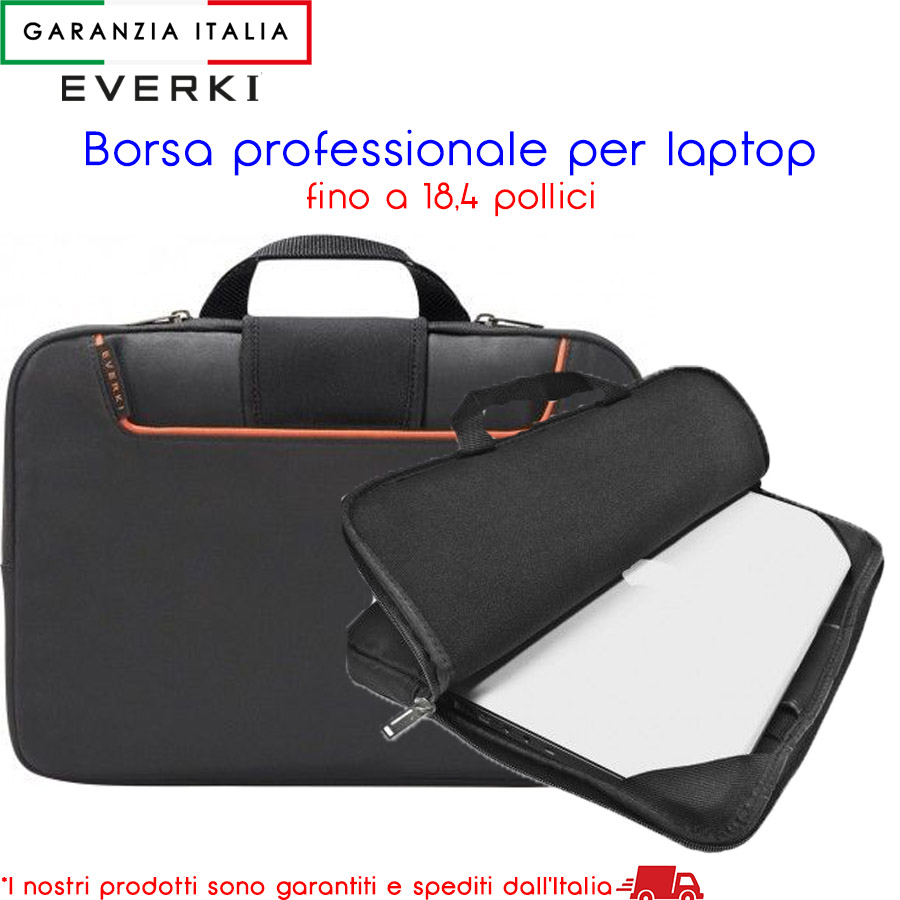 Borsa per laptop pc notebook ultrabook fino a 18,4 pollici - EVERKI