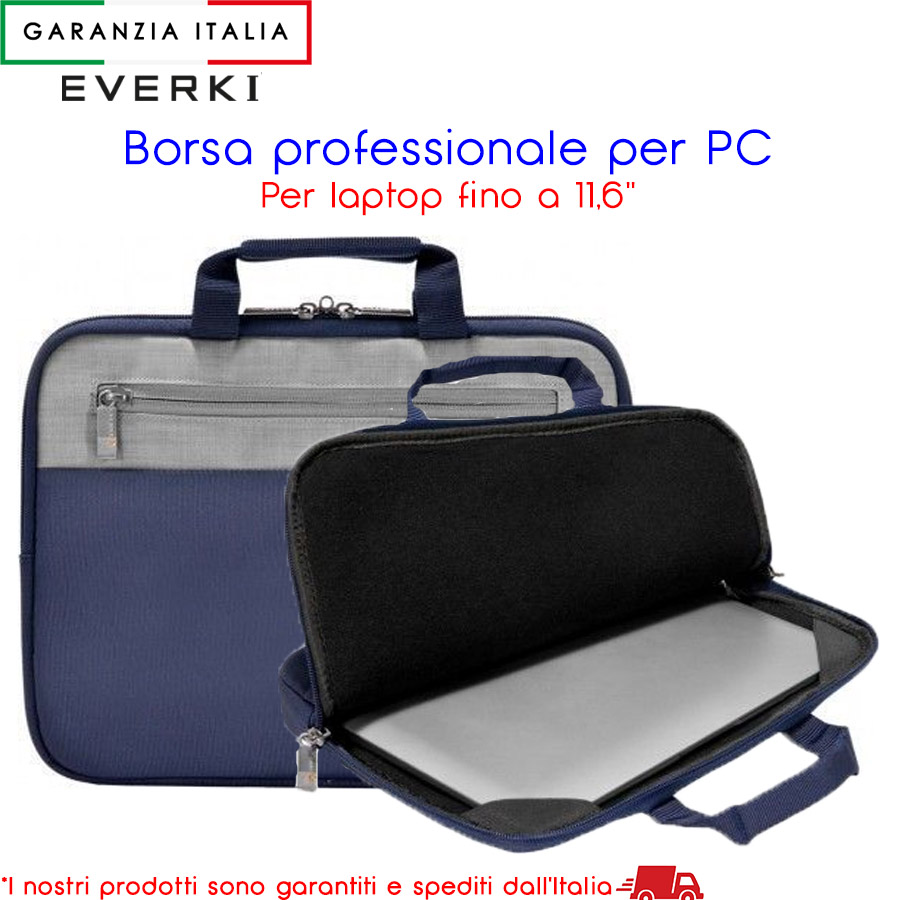 Borsa professionale per laptop pc tablet notebook ultrabook fino a 11,6'' EVERKI