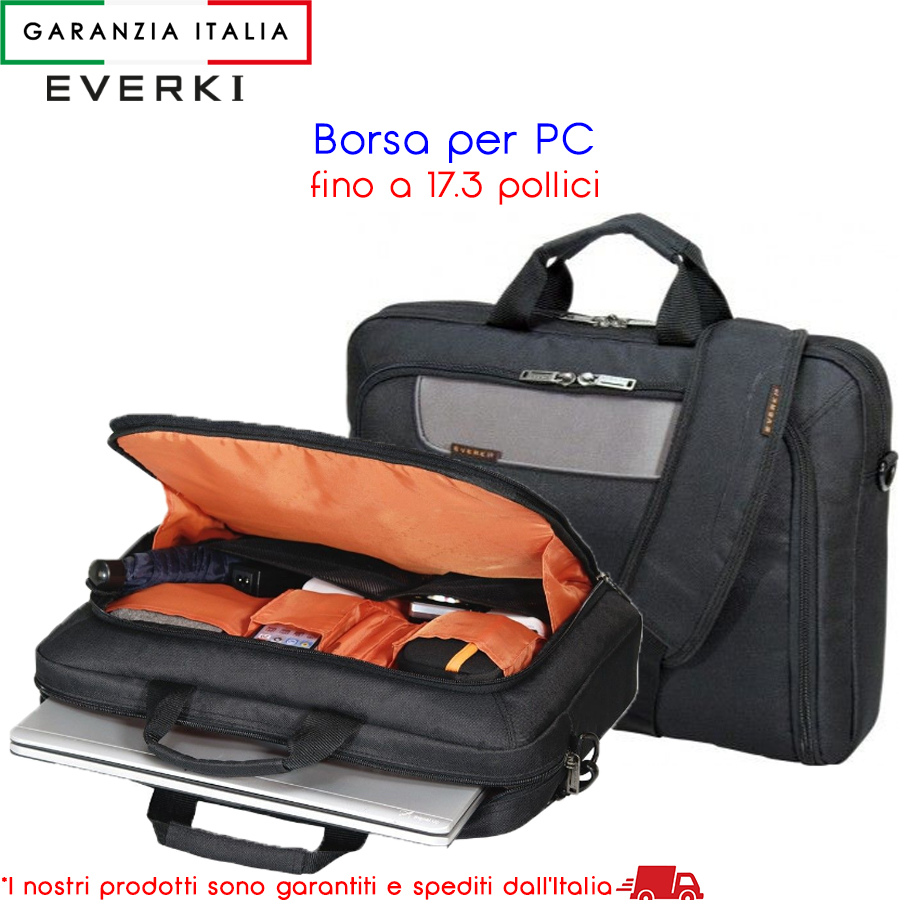 "Borsa per PC / Notebook Fino a 17,3"" pollici - Everki Advance"
