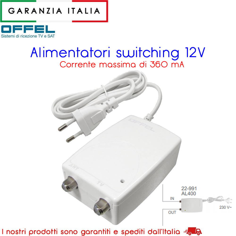 Alimentatore switching 12V 22-991