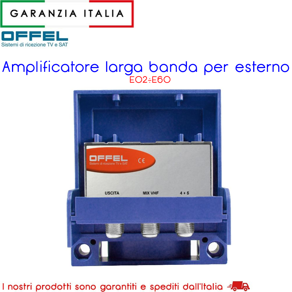 Amplificatore larga banda per esterno UHF 12V e LOG 12V 28-010