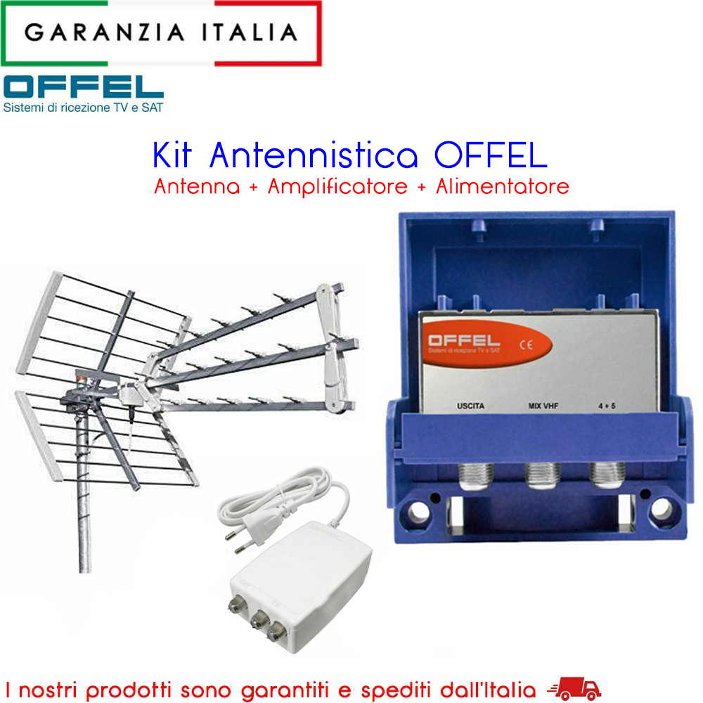 Kit Antenna digitale terrestre - Amplificatore - Alimentatore