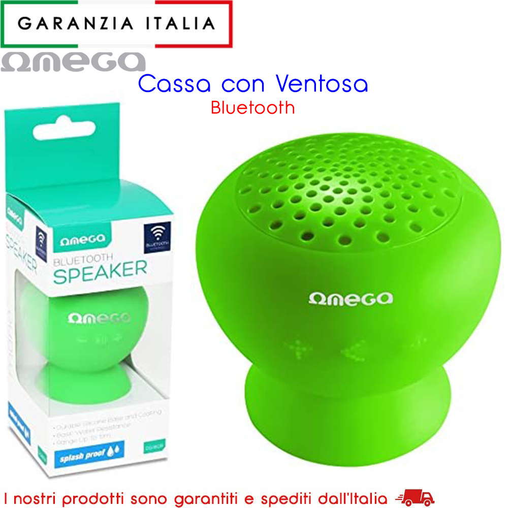 Speaker Bluetooth con ventosa in gomma 3W - Verde