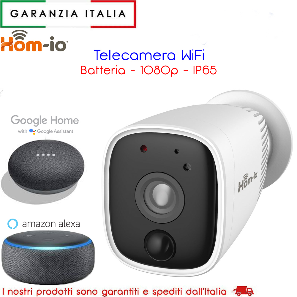 Telecamera di Sicurezza gestibile da Smartphone - IP65 1080P SD CLOUD PIR