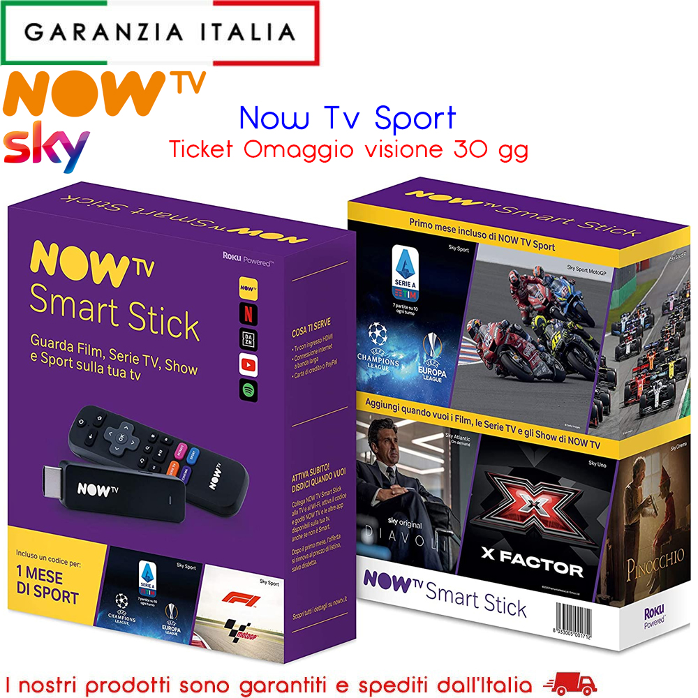 Stick Now TV con Ticket Sport - Serie A, Champions League, Europa League