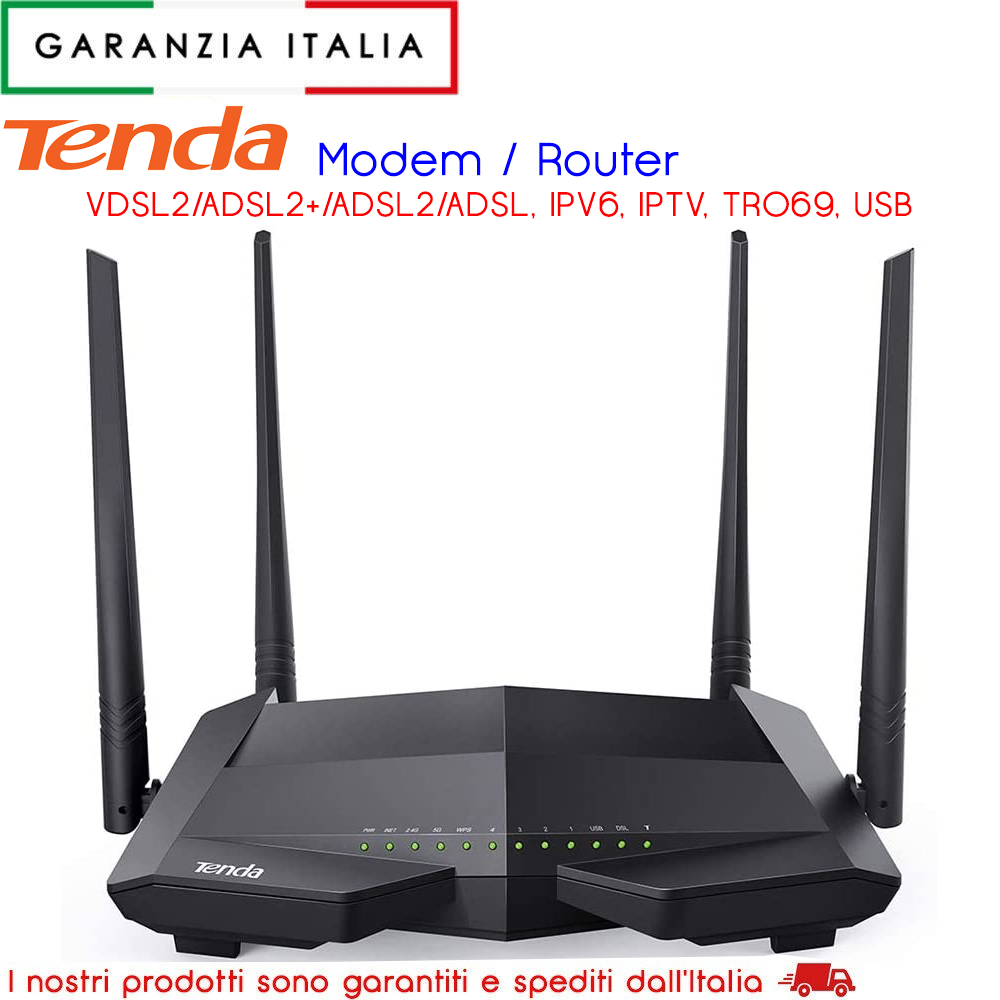 Tenda V1200 Dual Band WLAN VDSL2 Modem Router