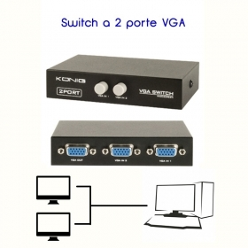 Commutatore Switch VGA a 2 por
