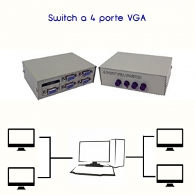 SWITCH VGA MANUALE 4 PORTE PER