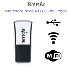Scheda USB Wireless TENDA W311M ADATTATORE USB WIRELESS NANO N150 1T1R WPS BUTTO