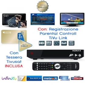 Decoder Satellitare Tivusat HD con tessera