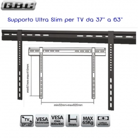 "SUPPORTO ULTRA SLIM PER TV LED DA 37"" A 63"" 65835040"