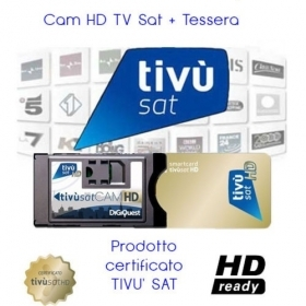 CAM TIVU SAT CON TESSERA TIVU'SAT HD PER TV O DECODER CON SLOT COMMON INTERFACE