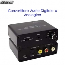 CONVERTITORE AUDIO DIGITALE / ANALOGICO CON AMPLIFICATORE PER CUFFIE