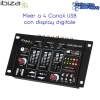 Mixer DJ a 4 Canali con indicatore led, controllo usb e mp3 IBIZA