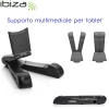 Supporto pieghevole con amplificatore audio per altoparlante bluetooth e tablet