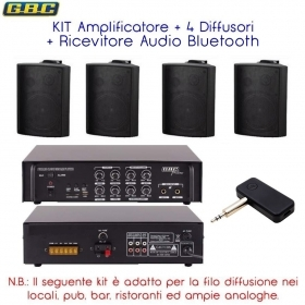 KIT Amplificatore e 4 casse ne