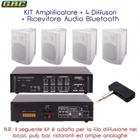KIT Amplificatore e 4 casse bi