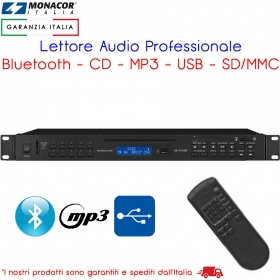 Lettore Audio Professionale CD MP3 con Bluetooth USB SD Monacor CD-112/BT