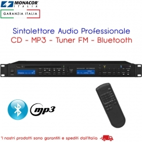 Sintolettore Audio CD Professionale con Bluetooth Tuner FM RDS SD/MMC