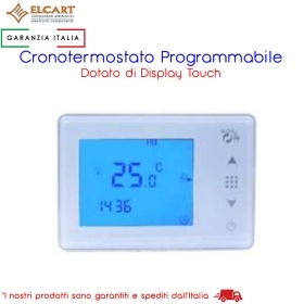 CRONOTERMOSTATO DIGITALE PROGRAMMABILE DA PARETE CON DISPLAY TOUCH - ELCART