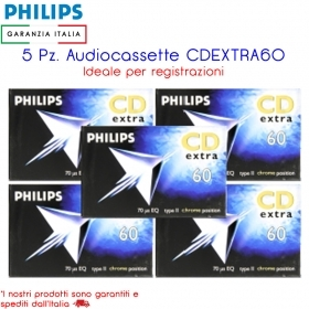 5 Pz. Audiocassette Philips CD