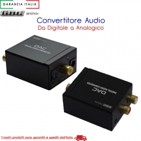 MINI CONVERTITORE AUDIO DIGITALE / ANALOGICO CON USCITA 3,5MM STEREO PER CUFFIE