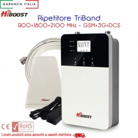 RIPETITORE GESTORE TELEFONICO TRIBAND 900/1800/2100 GSM DCS 3G 1000mt2