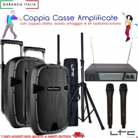 KIT Coppia casse bluetooth sd/