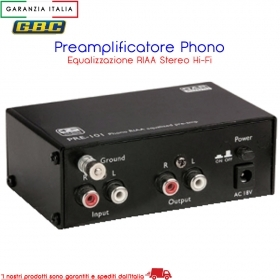 Preamplificatore per Collegare Giradischi Phono a Aux IN Line CD senza distorsio