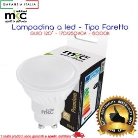 Faretto led linea premium 10 w 900 lm luce fredda MKC LIGHT GU10