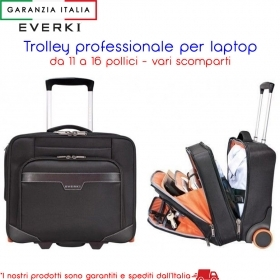 Laptop Trolley, da 11 a 16 pollici - Vano Adattabile - EVERKI