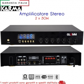 Amplificatore Stereo 2 x 30W PA3460 - Bluetooth MP3 ECHO - Karma Italiana