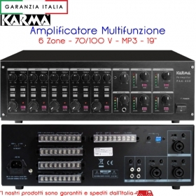 Amplificatore p.a. a matrice 120W x 4 Phantom 4 Zone - PAA460 Karma Italiana