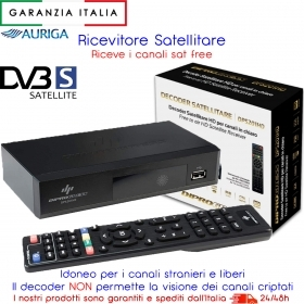 Decoder DPS201 Digitale Satellitare DVB-S2 HD con funzione PVR USB e telecomando