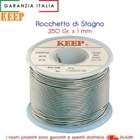Stagno per saldatura; diametro 1,0 mm, 250 g