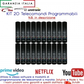 KIT 20 Telecomandi Programmabili Universali Unitronic come Made 4 You Jolly Line