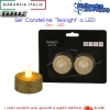 SET 2 CANDELINE TEALIGHT LED A BATTERIA ORO