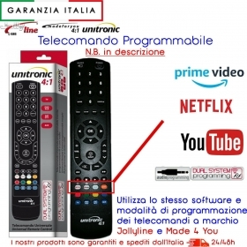 TELECOMANDO COMPATIBILE DECODER TERRESTRE TELESYSTEM TS7900 NET TV