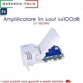 AMPLIFICATORE 1IN 4OUT 4X100dB