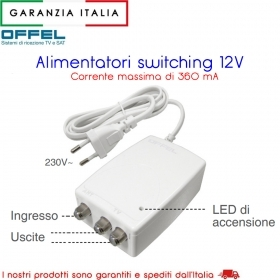 Alimentatore switching 12V 22-