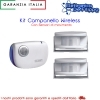 KIT CAMPANELLO/AVVISATORE WIRELESS CON SENSORI DI MOVIMENTO AD INFRAROSSI PIR